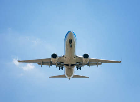 passenger plane on a background of the sky