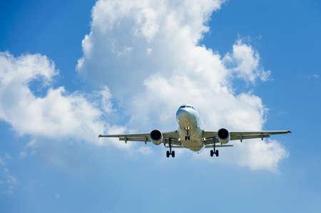 plane rises into the sky