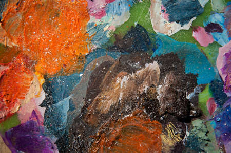 bunt: abstract background with oil paints