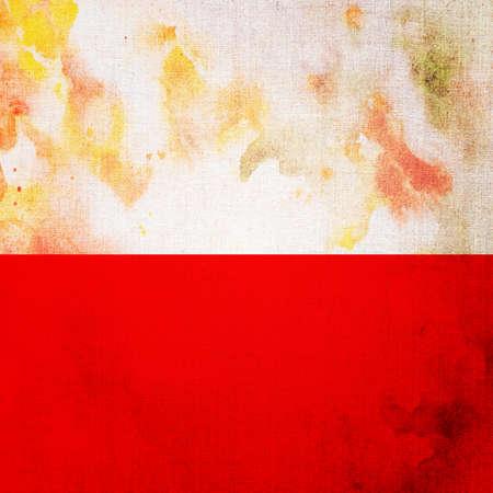 polish flag: Polish flag in grunge style