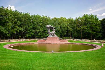 Chopin Monument in Lazienki Park Stock Photo