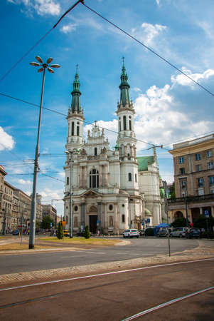 holiest: Church of the Holiest Saviour in Warsaw Stock Photo