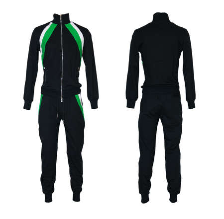 duffle: sport suit isolated on white background Stock Photo