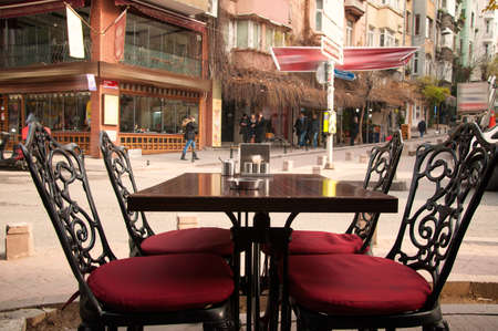 cafe on the street in Istanbul photo