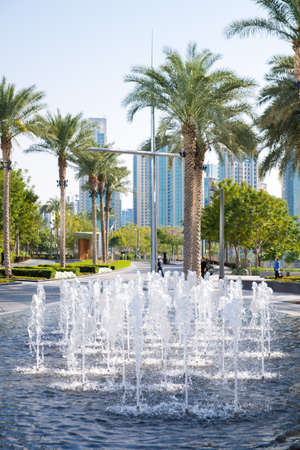 beautiful fountain in the Park Dubai photo