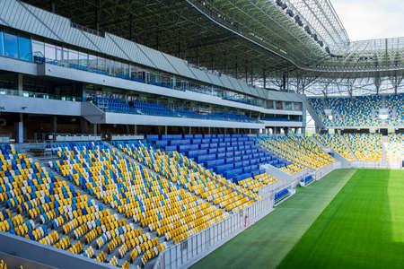 Leere Fußballstadion am Nachmittag Standard-Bild - 30202566