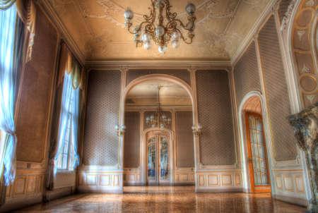 big old room with windows