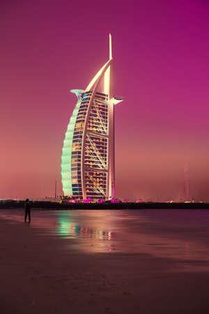 DUBAI, UAE - MARCH 6 :The worlds first seven stars luxury hotel Burj Al Arab, March 6, 2014 in Dubai, United Arab Emirates.