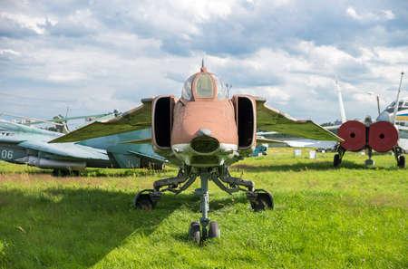avion chasse: avion de chasse militaire close-up Banque d'images