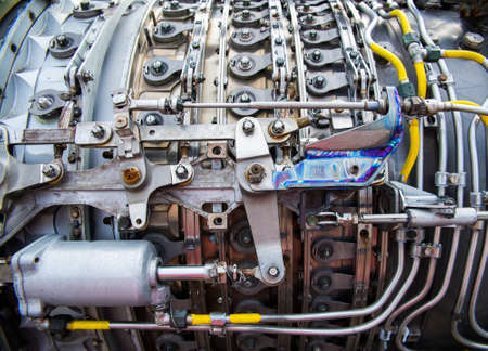 turbojet: background, part of an airplane engine