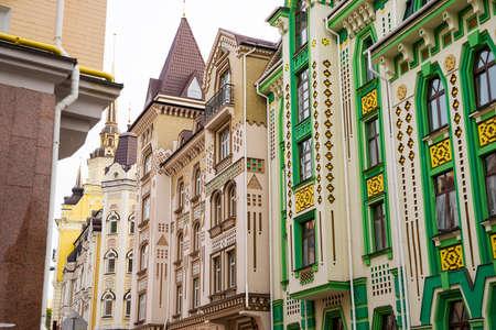 kiev: wall beautiful buildings in Kiev