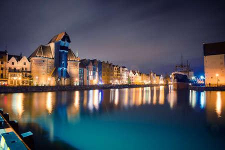 beautiful night streets of Gdansk