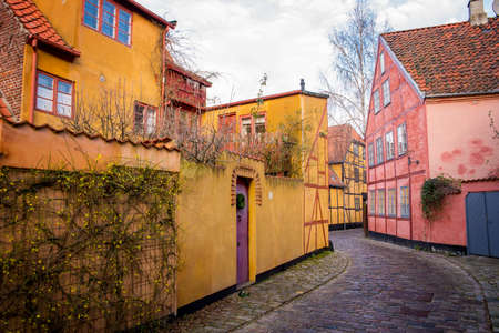 yellow house: old yellow house in Helsingor