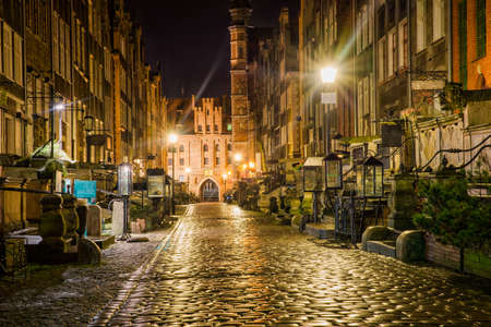 beautiful old streets of Gdansk