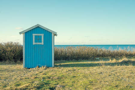 fishing huts: a small building on the beach
