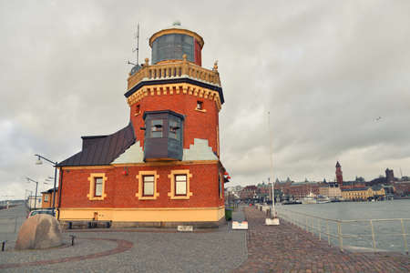 south western: HELSINGBORG, SWEDEN - JANUARY 3, 2015: Sightseeing the port in Helsingborg.  A city in south western Sweden, located in front of the Danish Helsingor. January 3, 2015. Helsingborg, Sweden. Editorial