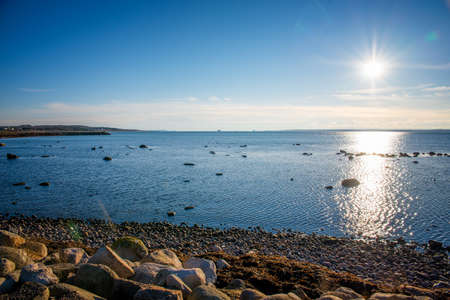 water's edge: beautiful landscape with a sea view in Sweden Stock Photo