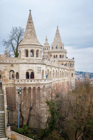 Fishermans Bastion in Budapest in Hungary Stock Photo