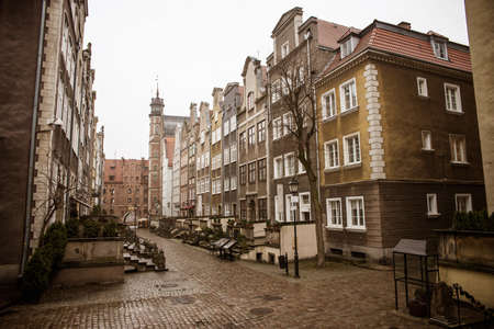 apartment tower old town: beautiful old streets of Gdansk
