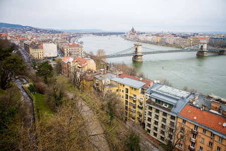 building a chain: Hungarian Parliament Building and Chain Bridge