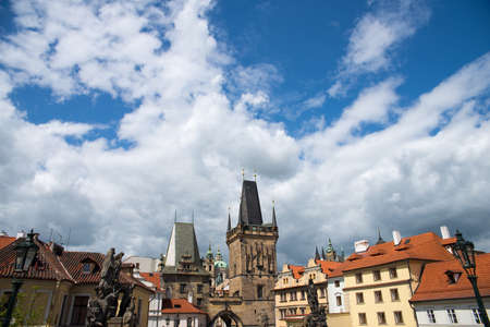 lamp made of stone: beautiful views of the old town of al in Prague