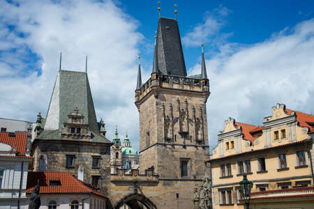 beautiful views of the old town of al in Prague