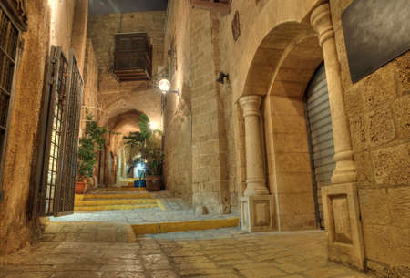 yaffo: stone old city Jaffa in Tel Aviv