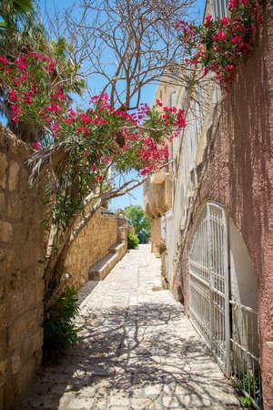 jewish houses: the old port city of Jaffa in Tel Aviv