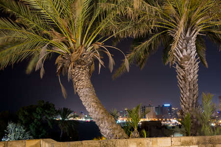 eventide: Tel-Aviv view from the old to the new town Stock Photo
