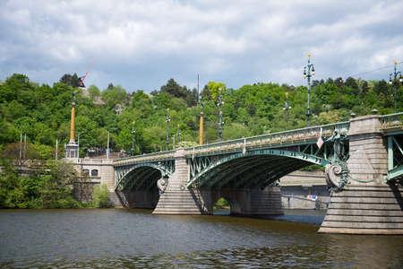 Svatopluk Cech Bridge or Cech Bridge in Prague