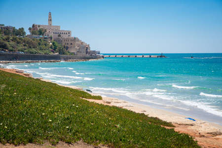 jafo: view from the shore of the old city of Jaffa Stock Photo