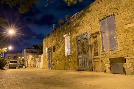 jaffa: stone old city Jaffa in Tel Aviv at night