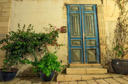 jaffo: stone old city Jaffa in Tel Aviv at night