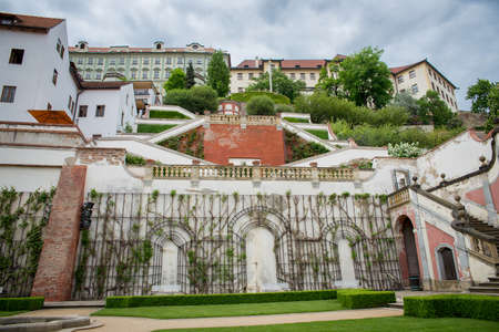 vinery: beautiful park in Prague during the day