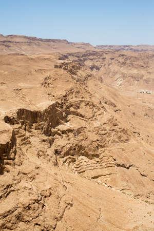 masada: view from the mountain of Masada Stock Photo