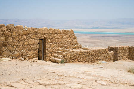 masada: Masada - ancient fortress in the south-west coast of the Dead Sea in Israel.