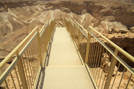 judaean: Top view from Masada fortress to the Judaean desert