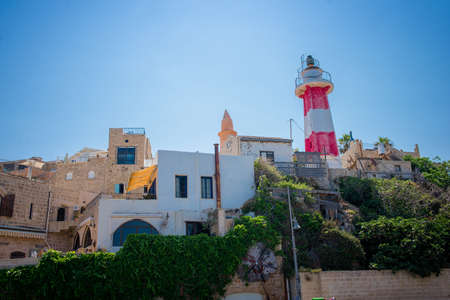 saturated: Lighthouse in the historic old city of Jaffa in Tel Aviv