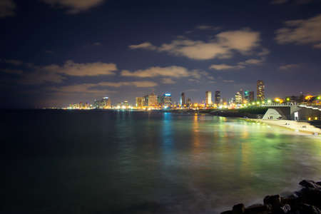 view of the modern Tel Aviv and the sea