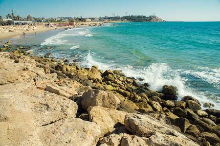 tel aviv: view of the beach of Tel Aviv