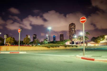 Parking at night in Tel Aviv