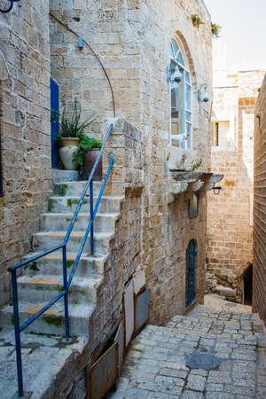 jafo: old stone city Jaffa in Tel Aviv