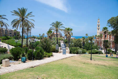 jaffo: TEL AVIV, ISRAEL - JUNE 4, 2015: Jaffa  also called Japho, is the southern, oldest part of Tel Aviv-Jaffa, an ancient port city in Israel. June 4, 2015. Tel Aviv, Israel. Editorial