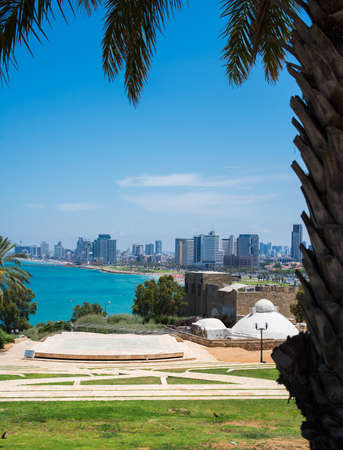 Tel-Aviv view from the old to the new town Stock Photo