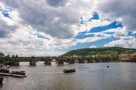 unesco: view of the Charles Bridge  in Prague
