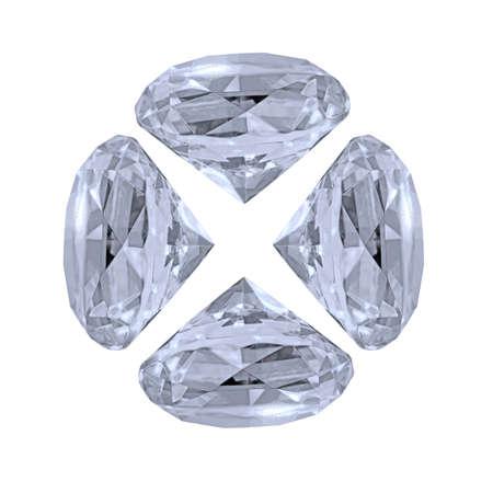 Diamond on a white background