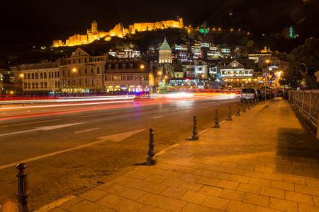 Tbilisi at night Editorial