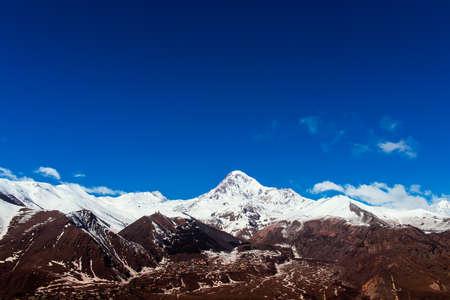 views of Mount Kazbek