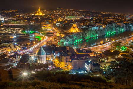 Top view of the  Tbilisi
