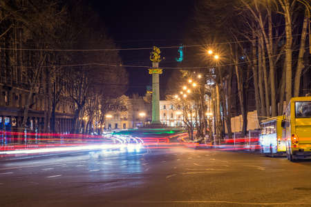 traffic flow on the street in Tbilisi